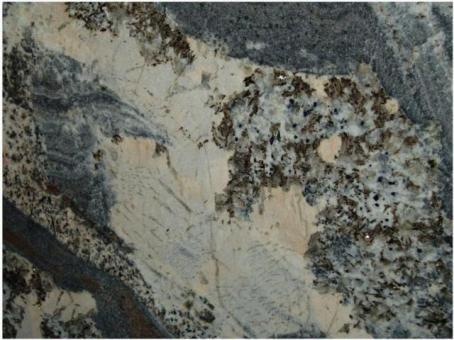Blat Granit Juparana Persa Blue, decupaj rotund