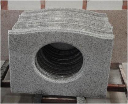 Blat Granit Gri Oriental, decupaj rotund