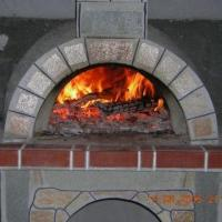 Cuptor Gradina - Placat cu piatra naturala poligonala