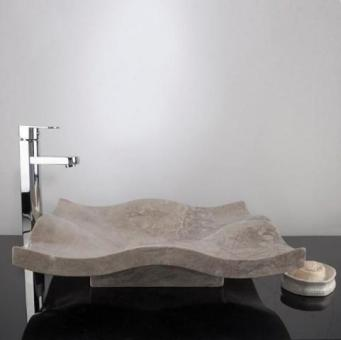 Chiuveta baie marmura Tundra Grey SP 03, 50 x 55 x 12 cm