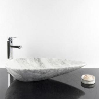 Chiuveta baie marmura Calacatta SP-24, 64 x 33 x 13 cm