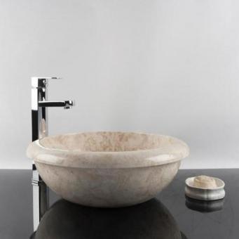 Chiuveta baie marmura Cappuccino RS-19, 42 x 15 cm