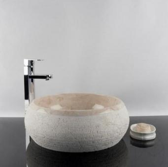 Chiuveta baie marmura Cappuccino RS-24, 41 x 33,5 x 15 cm