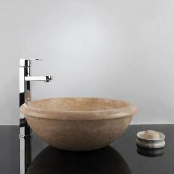 Chiuveta baie travertin Classic RS-19, 42 x 15,5 cm
