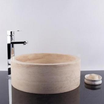 Chiuveta baie travertin Classic RS-22, 42 cm x 15 cm