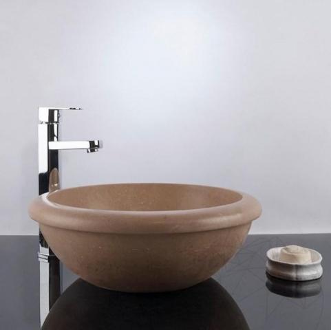 Chiuveta baie travertin Latte RS-19, 42 x 15,5 cm