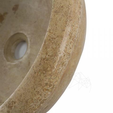 Chiuveta baie travertin Yellow RS-19, 41,5 x 15 cm