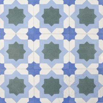 Terrazzo Oriental KR-03 Bleu 20 x 20 x 1.8cm