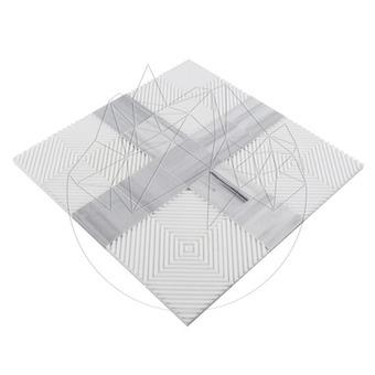 Mozaic Marmura Thassos si Kavala Kivos 1cm
